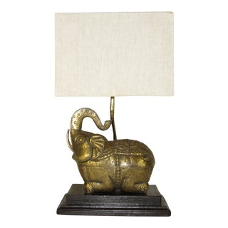 1970s Thai Elephant Lamp For Sale