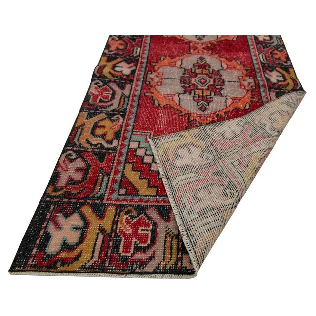Mid 20th Century Vintage Red Turkish Runner-2′10″ × 9′5″ For Sale - Image 5 of 7