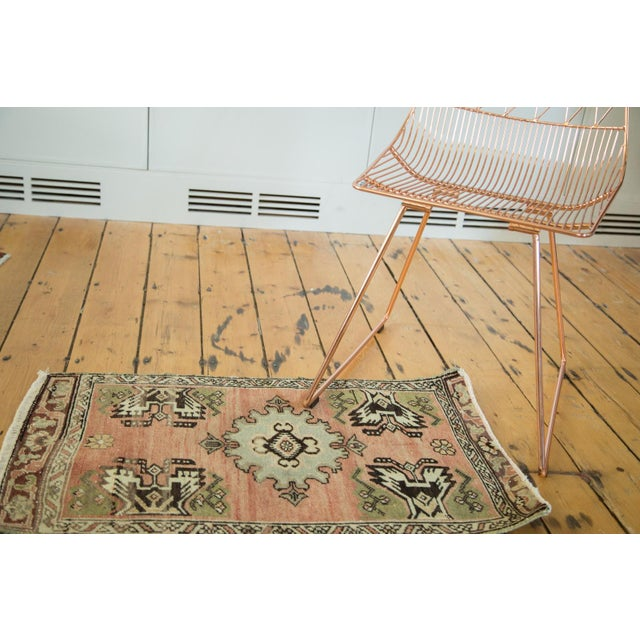 "Vintage Turkish Oushak Mat - 1'9"" x 2'10"" - Image 2 of 7"