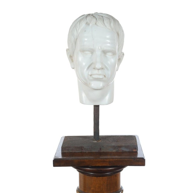 Roman Emperor Marble Bust For Sale - Image 4 of 10