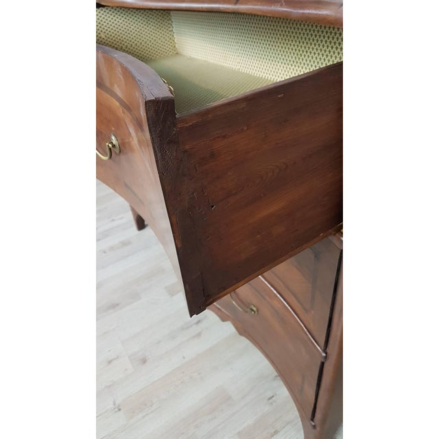 Mid 18th Century 18th Century Italian Louis XV Inlaid Wood Chest of Drawers For Sale - Image 5 of 13