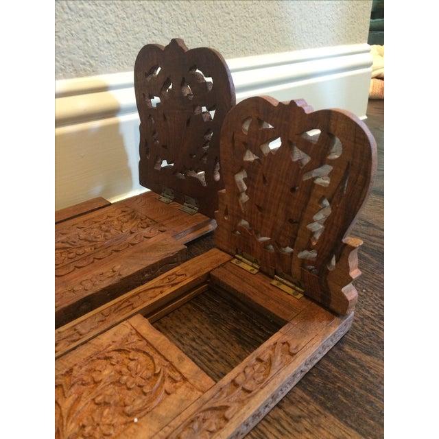 Folding Teak Bookstands - Pair - Image 5 of 7