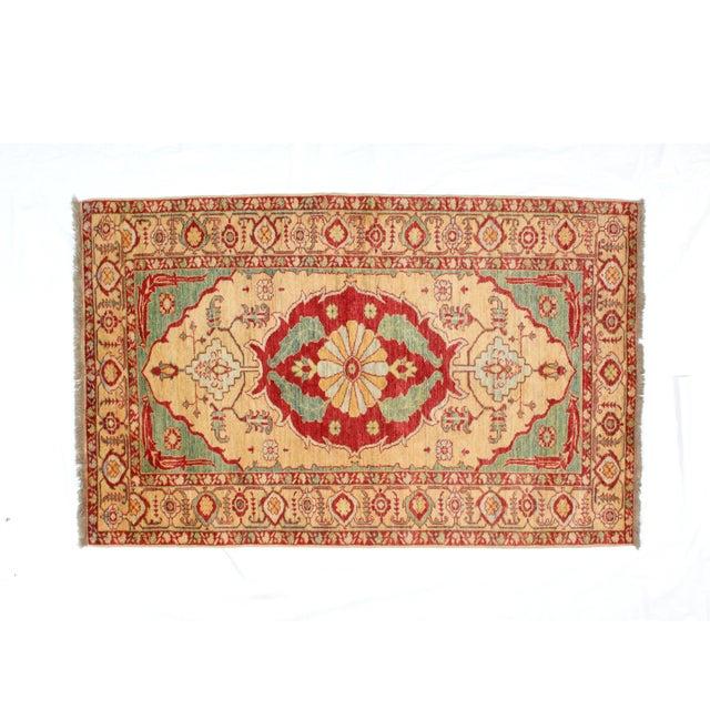 """Kazak Wool Rug - 4'1"""" x 6'6"""" - Image 4 of 7"""