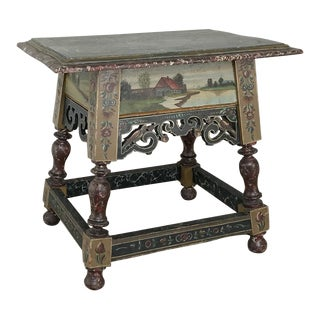 19th Century Friesland Painted End Table For Sale