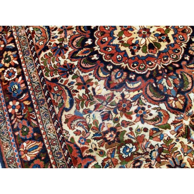 Islamic 1900s, Handmade Antique Persian Sarouk Rug 3.1' X 5.2' For Sale - Image 3 of 12