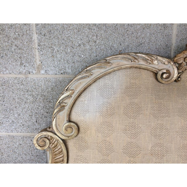 Richard Wheelwright Padded King Size Hand Carved Headboard For Sale - Image 5 of 9