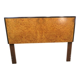 Mid Century Lane Burl Olivewood Queen Headboard For Sale