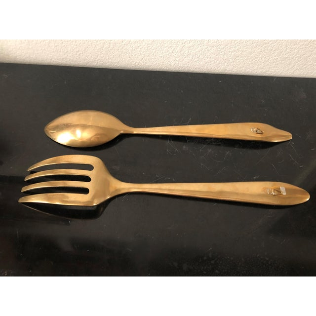 Very nice pair of kitchen wall art: Oversize Bronze Spoon and Fork- Perfect statement pieces for your kitchen wall decor....