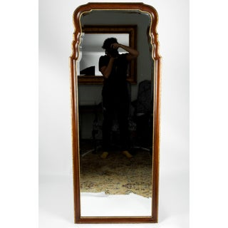 Vintage Mahogany Wood Framed Hanging Wall Mirror Preview