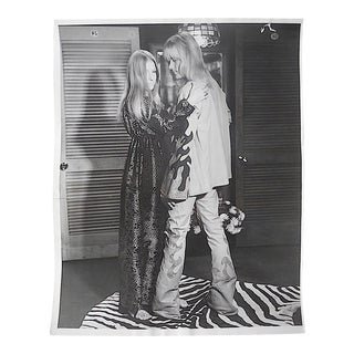 "Original Mid Century Glossy Silver Gelatin Studio Photograph-Decked Out Hippies-8""x10""-1960' For Sale"
