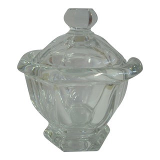1980s Vintage Baccarat Crystal Covered Bowl For Sale