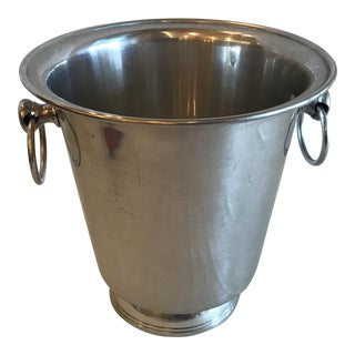 Vintage Aluminum Champagne Bucket For Sale