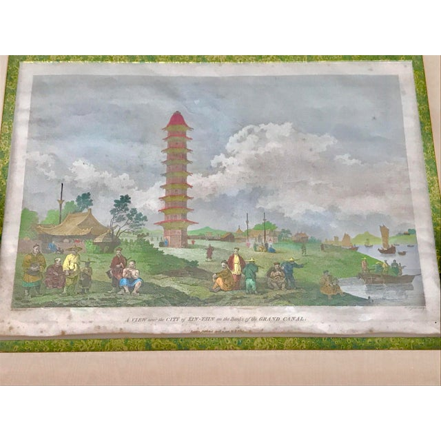 """1980s """"Embassy of China 1796"""" Framed Reproduction Print For Sale - Image 4 of 12"""