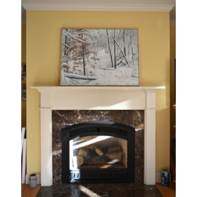 Stephen Remick Snowy Hillside Contemporary Painting For Sale - Image 12 of 13
