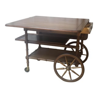Vintage Heckman Rolling Tea/Desert Cart For Sale