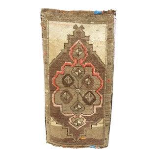 Vintage Mid-Century Kars Yastik Rug - 1′7″ × 3′