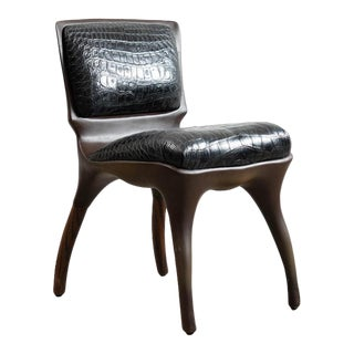 Alex Roskin, Tusk Chair in Aluminum With Bronze Finish, Usa For Sale
