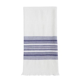 Periwinkle & White Kitchen Towel For Sale