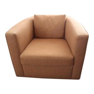 Modern Custom Made Orange American Leather Chair For Sale