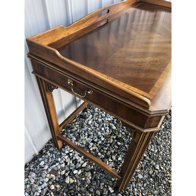 Brown 1970s Chippendale Lane Mahogany Writing Desk For Sale - Image 8 of 9