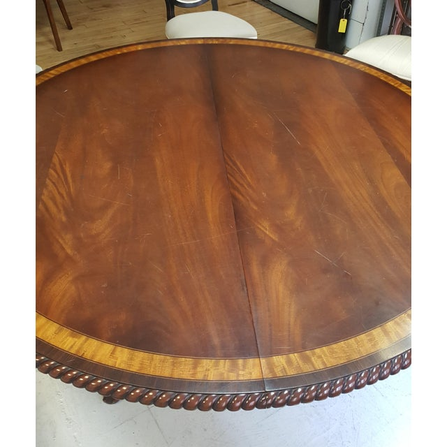 Traditional Millender Round Mahogany Dining Table For Sale - Image 9 of 13