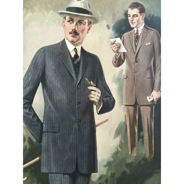 """Traditional 1923 Tailor's Shop Poster for Men's Fashions 16"""" X 21"""" For Sale - Image 3 of 6"""