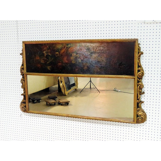 Antique Regency Style Trumeau Mirror For Sale - Image 13 of 13