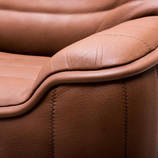 Brown Original De Sede Model Ds84 Sofa in Cognac Buffalo Leather, 1970s For Sale - Image 8 of 9