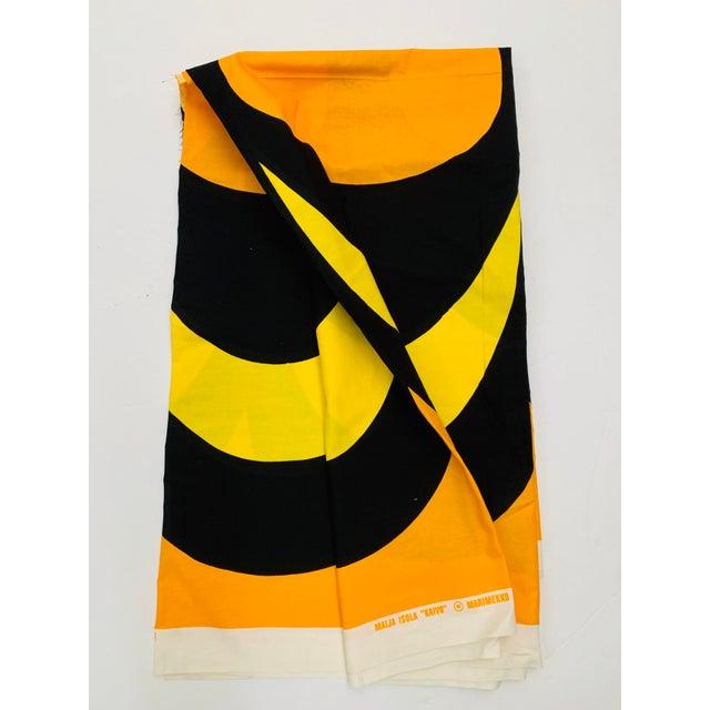 c870b281aa6d Mid-Century Modern 1965 Vintage Marimekko Maija Isola Orange & Yellow  Fabric For Sale -