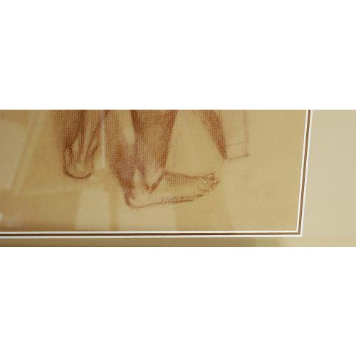 Figurative Vintage Academic Study of a Standing Male Nude For Sale - Image 3 of 4
