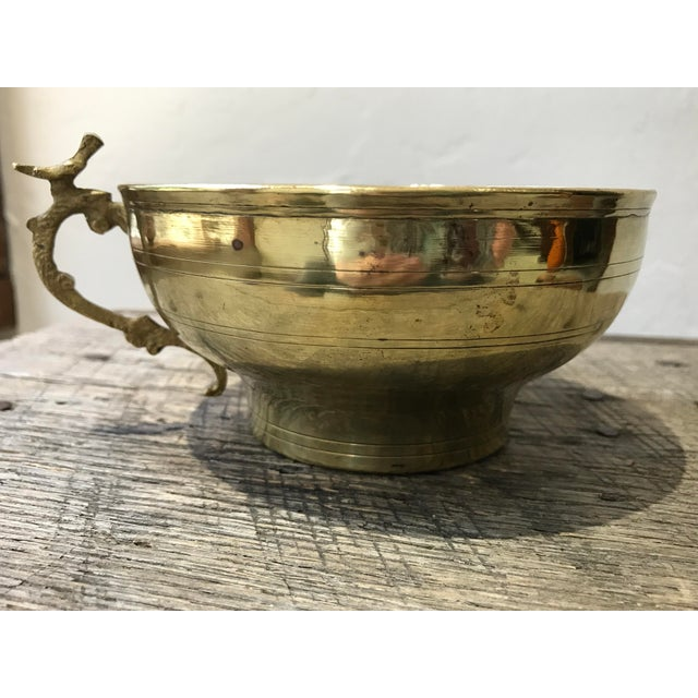 Boho Chic Turkish Hammam Brass Cup For Sale - Image 3 of 8