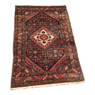 "1970s Vintage Persian Hamedan Malayer Rug-3'6'x5'1"" For Sale"