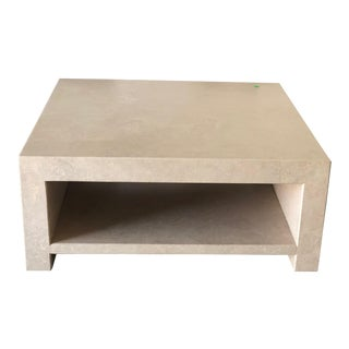 Mid-Century Modern Travertine Coffee Table For Sale