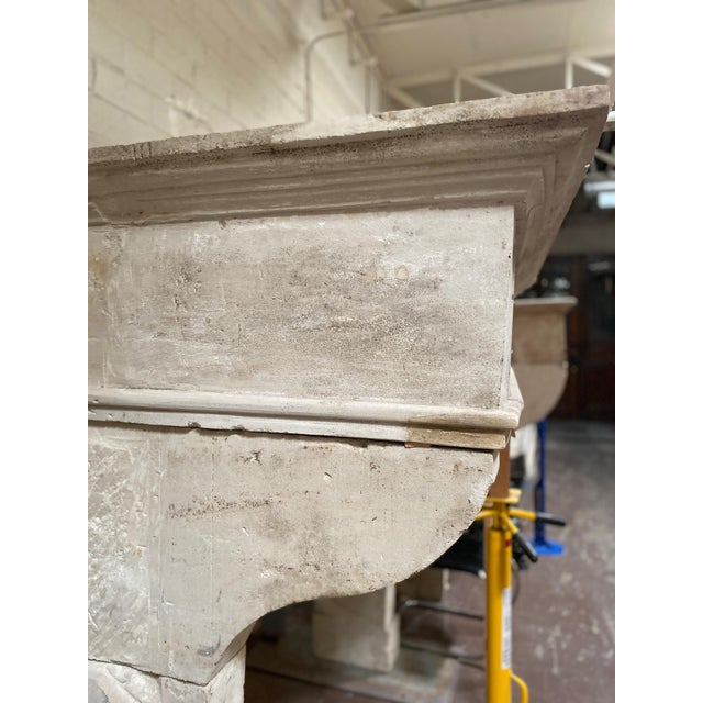 Louis XIII Antique Limestone Mantel, circa 1820 For Sale - Image 4 of 5