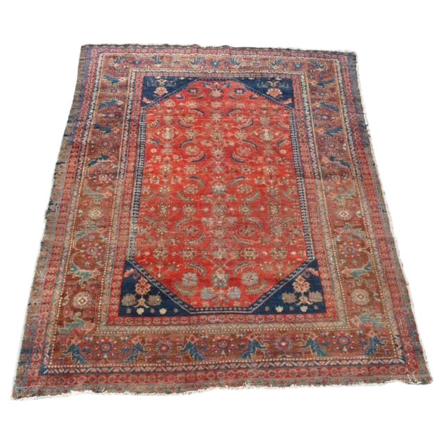"Vintage Persian Rug - 4'11"" x 6'4"" - Image 1 of 10"