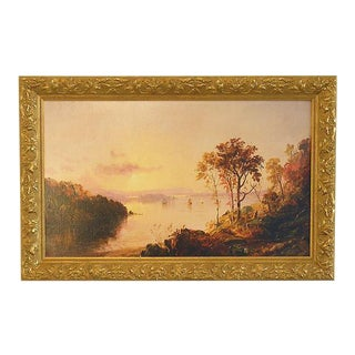 Hudson River School Landscape Framed Giclee Print on Canvas by Jasper Francis Cropsey For Sale