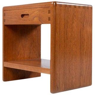 Niels Bach Solid Teak Danish Modern Bedside Table Nightstand For Sale