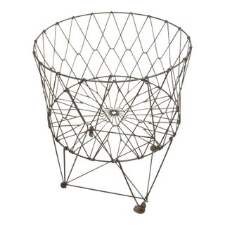 Vintage Allied Products Industrial Metal Basket For Sale