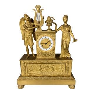 Antique 1810 French Empire Bronze Pendulum-Clock For Sale