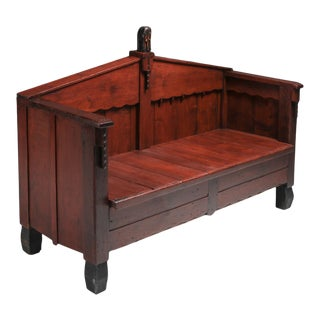 Expressionist Amsterdam School Bench - 1920's For Sale