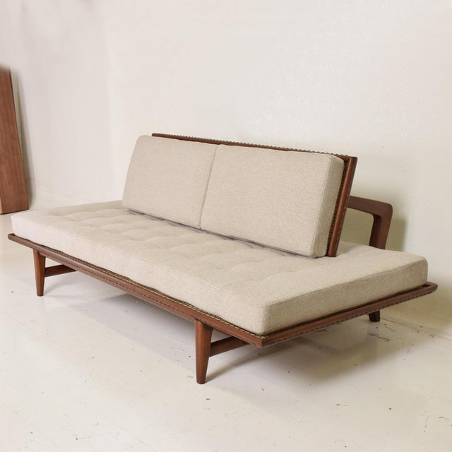 For your consideration, a Mexican Modernist Chaise Lounge Daybed by Charles Allen, Regil de Yucatian. Mexico Circa 1950s....
