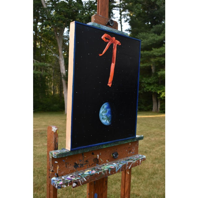 "Wood ""You Are Here"" Painting by Stephen Remick For Sale - Image 7 of 13"