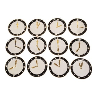 12 Langbein Clock Face Plates For Sale