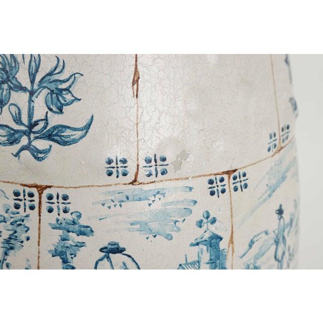 Blue 1970s Vintage Ceramic Garden Stool For Sale - Image 8 of 12