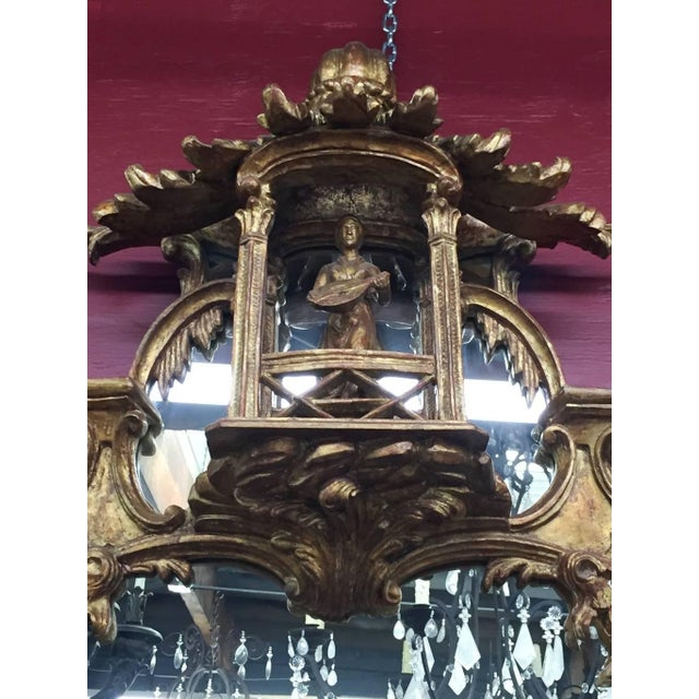 George III Chippendale Style Carved Giltwood Mirror, 19th Century For Sale In Los Angeles - Image 6 of 9