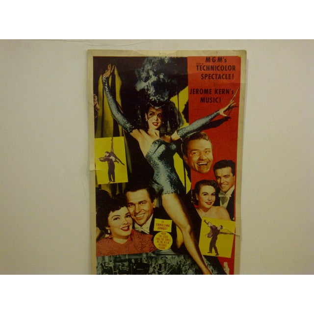 """Contemporary Vintage Movie Poster """"Lovely to Look At"""" Kathryn Grayson & Red Skelton - 1952 For Sale - Image 3 of 6"""