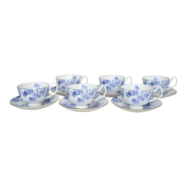 Aynsley English Cups & Saucers - Service for 6 For Sale