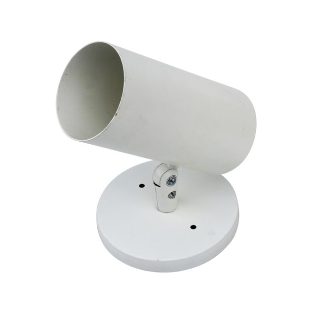 Contemporary NOS Cylindrical White Sconce by Thomas Industries For Sale - Image 3 of 4