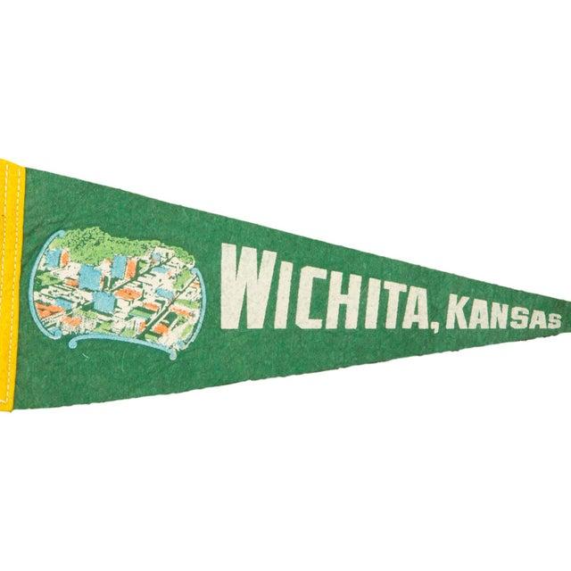 Vintage Wichita Kansas Felt Flag Banner - Image 2 of 2