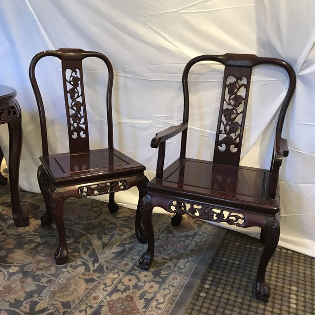 Ling Chi Rosewood Dining Table & 8 Chairs Set For Sale - Image 5 of 10